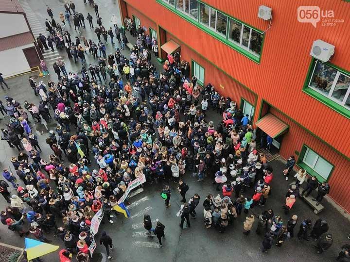 ВДнепре 800 студентов вышли протестовать из-за холодных аудиторий